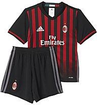 Adidas AC Mailand Mini Heimspiel-Komplet Jungen, Red/Black