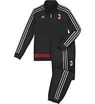 Adidas AC Milan Presentation Suit Junior, Black/S.Grey/V.Red