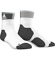 Adidas Energy Ankle Thin Cushioned Socks calzini running donna, White/Dark Grey