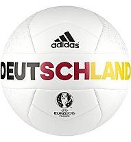 Adidas Euro 16 OLP Germany Capitano - pallone da calcio, White