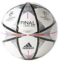 Adidas Pallone Finale Milano Capitano - pallone da calcio, White/Black/Pink