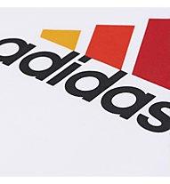 Adidas Essentials Logo Shirt Kurzarm Kinder, White/Semi Solar Gold/B.Orange