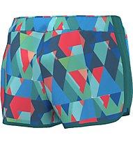 Adidas Short M10 Graphic - kurze Laufhose, Eqt. Green/Shock Red