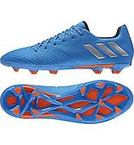 Adidas Messi 16.3 FG - scarpe da calcio per terreni compatti, Blue