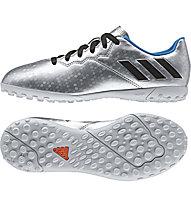 Adidas Messi 16.4 TF Jr - scarpa da calcio bambino, Silver/Blue