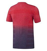 Adidas Primeknit Wool Dip Dye Runningshirt, Red/Blue
