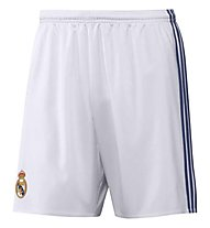Adidas Real Madrid Home Replica Short Youth - pantaloncini calcio bambino, White