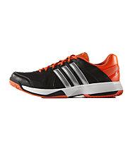 Adidas Response Approach Tennisschuh, Core Black / Silver Met/ Solar Red