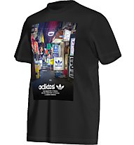 Adidas Originals Strett Photo Tee Herren T-Shirt Fitness Kurzarm, Black