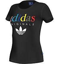 Adidas Originals T-Shirt fitness donna, Black