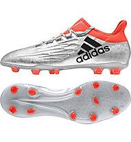 Adidas X 16.2 FG - scarpa da calcio, Silver/Orange