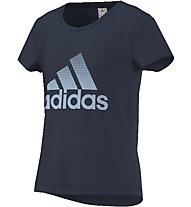 Adidas Athletics Performance Logo Tee T-Shirt fitness Bambini, Blue