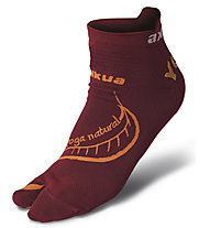 Akkua Yoga Natural Socken, Dark Red/Dark Orange