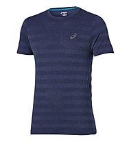 Asics FuzeX Seamless Tee T-shirt running, Dark Blue