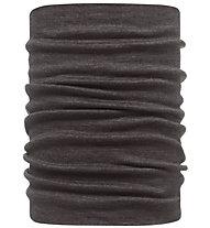 Buff Merino Wool Neckwarmer Buff Black Scaldacollo, Black