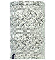Buff Neckwarmer Buff Knitted & Polar Fleece Savva, Melange Grey/Cream