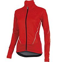 Castelli Mortirolo W Jacket Radjacke, Red/Reflex