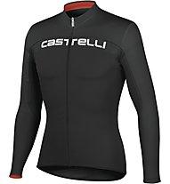 Castelli Prologo HD L/S Shirt Fz, Black/Black/Red