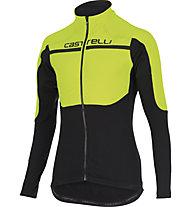 Castelli Secondo Strato Jersey FZ, Yellow Fluo/Black