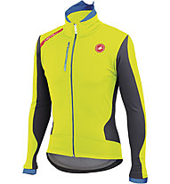 Castelli Senza Jacket, Yellow Fluo/Anthracite/Drive Blue