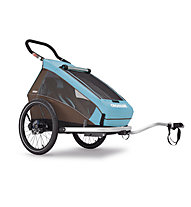 Croozer Kid Plus for 1 Click&Crooze Fahrradanhänger, Sky Blue / Brown