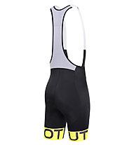 Dotout Stripe Bibshort, Black/Yellow