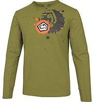 E9 Squad T-Shirt Herren Kletter- und Bouldershirt Langarm, Green