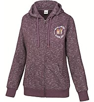 Everlast Felpe Cappuccio Knoppe Giacca sportiva fitness donna, Violet