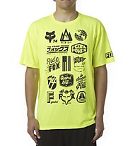 Fox MTN Division Tech Tee Bikeshirt, Flo Yellow