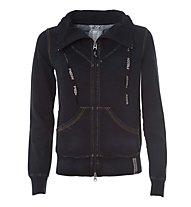 Freddy F4WAWS10 Sweatshirt-Jacke Damen, Navy