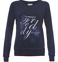 Freddy Flower Core Tsw Felpa fitness donna, Blue