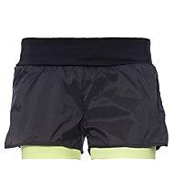Freddy Pure Tech pantaloncini ginnastica donna, Black/Sun