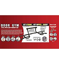 Get Fit Door Gym barra allenamento porta, Black