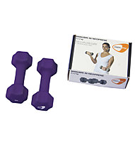 Get Fit Neoprene Dumbbell pesi, Violet