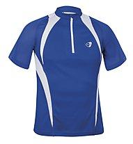 Get Fit Runningshirt C/Zip M, Blue/White