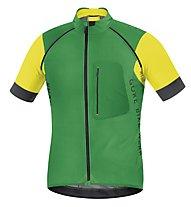 GORE BIKE WEAR Alp-X Pro WS SO Zip-Off Jersey, Green/Yellow