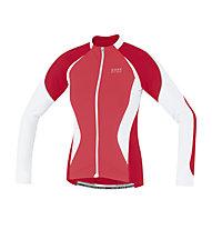 GORE BIKE WEAR Oxygen FZ Lady Jersey long, Red