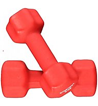 Gymstick Dumbbells Neoprene Set+DVD, Red