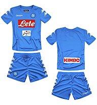Kappa Kombat Kit Replica Napoli Completo calcio bambino, Light Blue