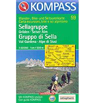 Kompass Carta N° 59 1:50.000, 1:50.000