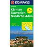 Kompass Carta N° 352 Carinzia Slovenia Nord Adriatico, 1: 650.000