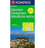 Kompass Karte Nr. 352 Kärnten Slowenien Nördliche Adria, 1: 650.000