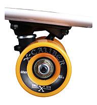 Maui and Sons Printed PU Kicktail Dark City Mini-Cruiser Skateboard, Dark City