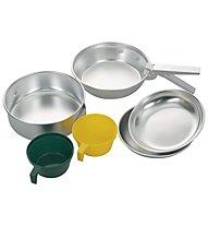 Meru Alu Cooking Set, Alu/Green/Yellow