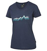 Meru Enköping T-Shirt trekking Donna, Blue