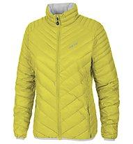 Meru Gander Woman Light Down Jacket giacca piuma trekking donna, Yellow/Silver