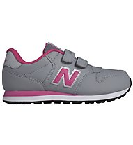 New Balance 500 Kids Kinder Turn- und Freizeitschuh, Grey/Pink
