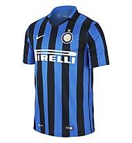 Nike 2015 Inter Milan Stadium Home - T-shirt calcio, Black/R. Blue/F. White