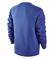 Nike AW77 Fleece Hybrid Sweatshirt, Game Royal/HTR/Bright Crimson