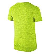 Nike Boys' Nike Training Top T-shirt bambino, Volt/Black